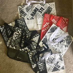 SET of 8 BRAND NEW LULULEMON Totes—RARE XL SIZE